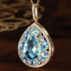 SKY BLUE TOPAZ NECKLACE 26191 | Stauer.com