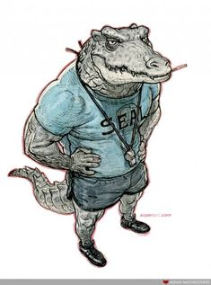 Renekton should have a skin like this! (by Kim Jung Gi)