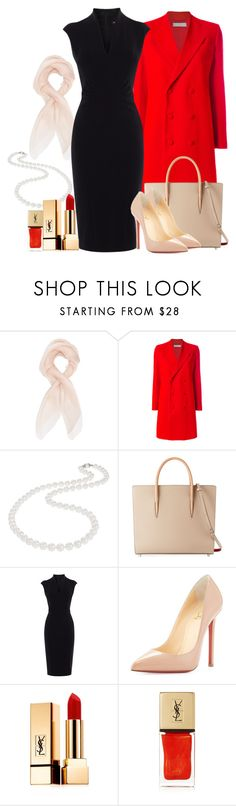 """classic"" by lilly517 ❤ liked on Polyvore featuring Paule Ka, Givenchy, Nadri, Christian Louboutin, Karen Millen and Yves Saint Laurent"
