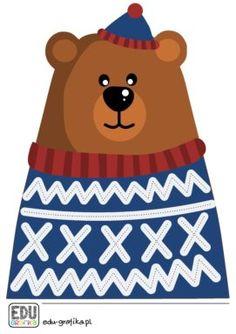 Edu-Grafika pomoce dydaktyczne, karty pracy i ćwiczenia - przedszkole Teaching Aids, Scooby Doo, Teddy Bear, Platform, Sport, Fictional Characters, Deporte, Sports, Teddy Bears
