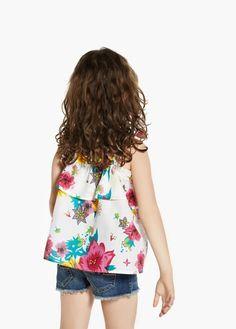 Blusa stampa floreale | MANGO KIDS