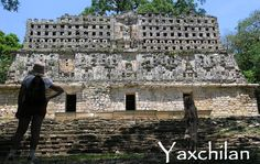Yaxchilan, Chiapas, Mexico. It certainly is not on an itinerary for the Riviera Maya since it's a full day drive away, but Chiapas is a diverse state with pasture lands, mountain jungles, rivers, waterfalls, canyons, colonial cities, and the Maya who have lived here for centuries.
