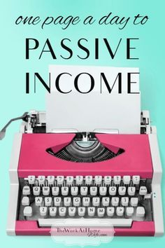 Start generating passive income by creating just one page of content per day.