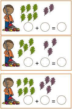 herst rekenen sommen tot 10 Kindergarten Math Worksheets, Preschool Learning Activities, Preschool Education, Preschool Printables, Teaching Kids, Kids Learning, Fall Preschool, Preschool Math, Math Classroom