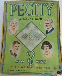 Parker Games, Old Board Games, Green Colors, Colours, World Of Tomorrow, World's Fair, Vintage Games, Vintage Boutique, Vintage Love