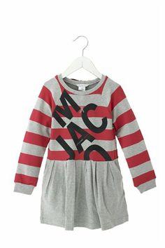 Little Marc Striped LMJ Logo Dress