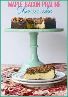 Maple Bacon Praline Cheesecake