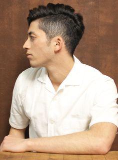 外国人風サイドパートショート(髪型メンズ)