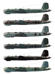 Heinkel He-177   Camouflage Schemes/the flying pencil :)