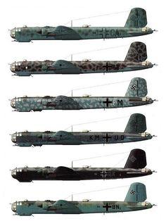 Heinkel He-177   Camouflage Schemes