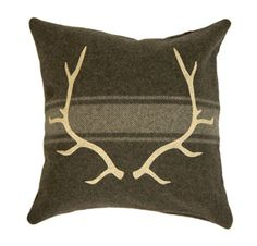 Den/Man Cave idea - take old men's wool sweater and add felt cutouts to make pillow...