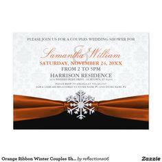 Orange Ribbon Winter Couples Shower