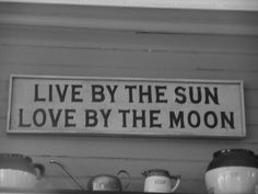 by the sun and moon