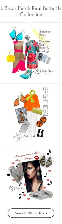 """""""J. Bird's Perch Real Butterfly Collection"""" by jbirdsperch ❤ liked on Polyvore featuring Lattori, Jean-Paul Gaultier, Furla, modern, women's clothing, women's fashion, women, female, woman and misses"""