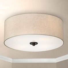 Sylvan 18 Wide Oatmeal Drum Ceiling Light