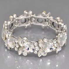 Chunky Round Rhinestone Stretch Bracelet from Morties Boutique for $17.95