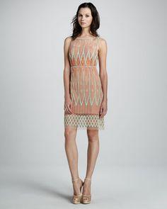 Embroidered Sleeveless Dress by Catherine Malandrino at Neiman Marcus. $445