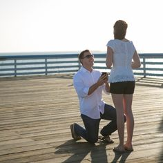 A boardwalk to yourself - perfection! All the beauty of a beach proposal without all the sand in your shoes