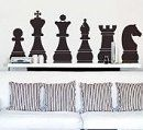 Wall Art Decal Sticker Chess Board Pieces - The newest interior design trend is adding vinyl art on interior walls. It's easier than hiring an artist and a lot cheaper. The smaller pieces can be put up within minutes. The larger pieces takes a little longer. The decals can be applied to all smooth surfaces, such as walls, windows, tiles, mirrors and doors.