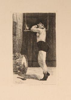 Felicien Rops  Femme au trapeze