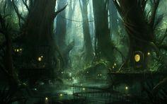 Swamp by JJcanvas.deviantart.com on @DeviantArt / 헐헐 대박 센과치히로의행방불명/죽은자만 들어 갈 수 있을 거 같은/등불/청사초롱