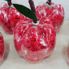 plastic bottle art apple craft with plastic bottle Kids Fall Crafts, Christmas Crafts For Kids, Plastic Bottle Crafts, Recycle Plastic Bottles, Educational Activities For Preschoolers, Fruit Crafts, Apple Art, Recycled Bottles, Recycled Crafts