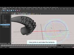 Rigging and animation of a tentacle using the L3 Curve Deformer.
