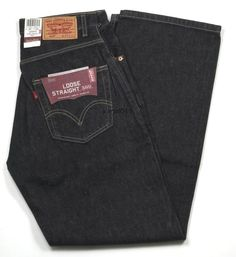 """Mens Levis Loose Straight 569 Special Dye Finish Black Size 29"""" x 32"""" New #Levis #LooseStraight"""