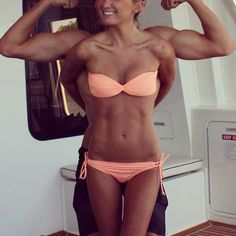 the bikini is cute and her abs look great! Fitness Motivation, Fitness Goals, Health Fitness, Personal Fitness, Fitness Quotes, Fitness Tips, Fitness Inspiration, Body Inspiration, Workout Inspiration