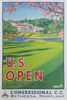 Original+poster+US+Open+Golf+USGA+Congressional+Bethesda+Juin+2011+-+Lee+Wybranski