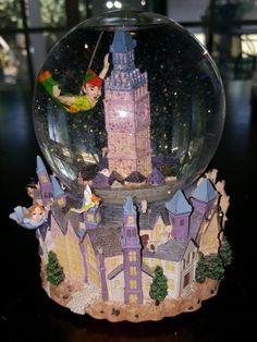 Disney's Peter Pan 50 Years of Adventure Musical Rotating Anniversary Snowglobe | eBay