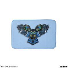 Blue Owl Bathroom Mat
