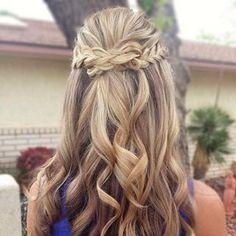 Beautiful wedding inspiration by heatherchapmanhair. Half up/half down with braids.