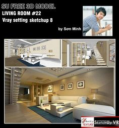 22_LIVING_ROOM_SKETCHUP_MODEL_BY_Sơn-Minh_Cover
