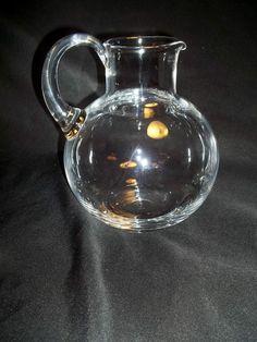 Signed TIFFANY & CO CRYSTAL PITCHER REFRESHER PATTERN Pot Belly Shape 96 oz