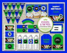 Lego Star Wars Birthday Party | Lego Star Wars DIY Party Printables  #legostarwarspartyideas #legostarwarsprintables