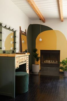 Actress, musician, and artist Janina Gavankar worked with Mandy Cheng of Mandy Cheng Design to redesign her Los Angeles house. Orange Living Room Sofas, Living Rooms, Los Angeles Homes, Kitchen Cabinetry, Deco Design, New Room, Apartment Therapy, Room Inspiration, Bedroom Decor