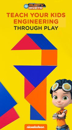 Kids can learn shapes and engineering through play with this free printable. Start by printing and cutting out the fun shapes in this combining and designing Rusty Rivets tangram activity pack! By creating preexisting or new designs, your preschooler can learn about visual-spatial relationships, geometry, and problem-solving!