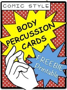 Body Percussion Card Freebie Printable by Learning to Teach Music Kindergarten Music, Preschool Music, Body Percussion, Music Therapy Activities, Music Activities For Kids, Orff Activities, Play Therapy, Speech Therapy, Cant Stop The Feeling