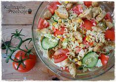 Sałatka z zupek chińskich z kurczakiem, sałatka z zupek chińskich, sałatka z zupkami chińskimi, sałatka z zupek chińskich i kurczaka, pyszna sałatka z zupek Pasta Salad, Cobb Salad, Potato Salad, Potatoes, Cooking, Ethnic Recipes, Food, Tortillas, Salads