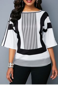 Stylish Tops For Girls, Trendy Tops, Trendy Fashion Tops, Trendy Tops For Women Stylish Tops For Girls, Trendy Tops For Women, Blouses For Women, Women's Blouses, Striped Blouses, Ladies Blouses, Formal Blouses, Fashion Blouses, White Blouses