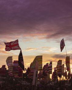 The Glastonbury sunset