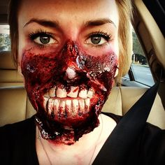 Special effects makeup done at Paul Mitchell the School Esani