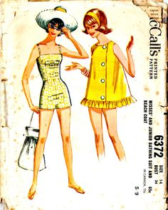 Hey, I found this really awesome Etsy listing at https://www.etsy.com/listing/200004893/1960s-poolside-vintage-sewing-pattern