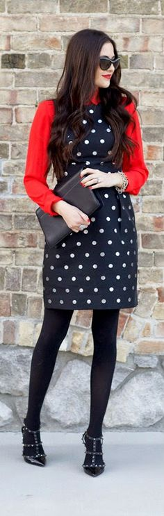 Polka Dots + Red.