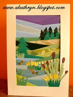 """U Kathryn : Kartki wykonane metodą """"iris folding"""" -instrukcja/Iris folding cards -tutorial"""