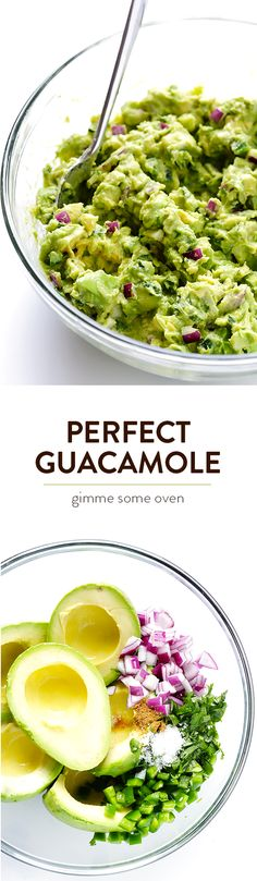 My all-time favorite recipe for delicious, quick, and easy guacamole.  Always a crowd favorite! | gimmesomeoven.com