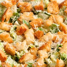 CAESAR SALAD A staple recipe! Flavorful, fresh and so delicious! The perfect side dish so just about any recipe or add grilled chicken and make it the main dish. Salad Recipes Video, Salad Recipes For Dinner, Healthy Salad Recipes, Side Salad Recipes, Recipe Videos, Dinner Salads, Food Videos, Homemade Caesar Salad Dressing, Salad Dressing Recipes