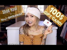 Shoe Haul + 100$ Macy's Gift card GIVEAWAY!