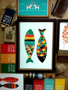 Colorful Fish Print